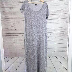 Torrid gray marled high slit knit maxi dress Sz 2